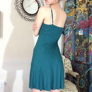 Akiko Dresses - Akiko Designer Modal Fabric Teal Dress